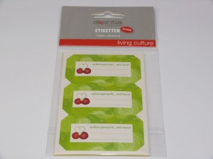 selbstklebende Etiketten für Marmeladengläser, 30 Stück