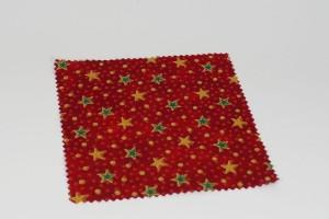 Hauben-/Deckchen für Marmeladengläser - weihnachtlich mit Stern