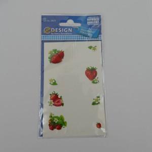 selbstklebende Etiketten für Marmeladengläser (Erdbeermotive), 12 Stück