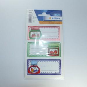 selbstklebende Etiketten für Marmeladengläser (Glasmotive), 12 Stück