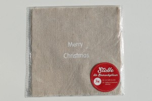 Hauben-/Deckchen für Keks- oder Einmachgläser - merry christmas Schriftzug