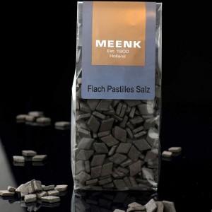 130 Gramm flache, salzige Salmiakpastillen von Meenk