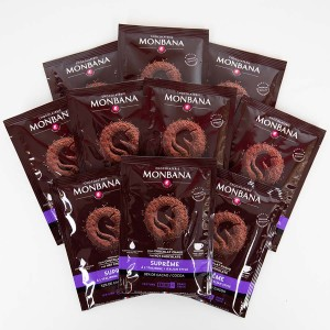 MONBANA-Trinkschokolade - Sorte Supreme de Chocolat - 10er Set