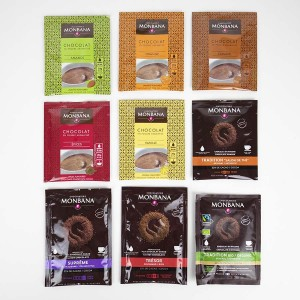 MONBANA - 9 x Trinkschokolade Sachets (9 Sorten, je 1 Sachets)