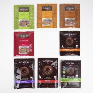 MONBANA - 8 x Trinkschokolade Sachets (8 Sorten, je 1 Sachets)