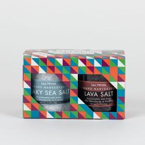 SALTVERK Geschenkset, bestehend aus Lava- und Meersalz
