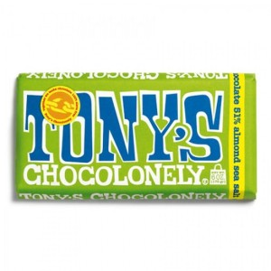 TONY´S CHOCOLONELY - Mandel und Meersalz-Zartbitterschokolade