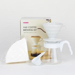 HARIO V60 Coffee Brewing Kit (VCSD-02W-EX)