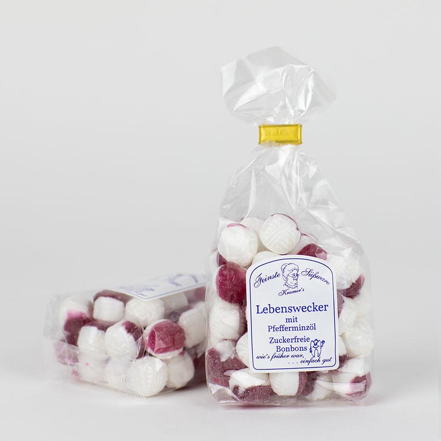Lebenswecker-Bonbons mit Pfefferminzöl, zuckerfreie Bonbons
