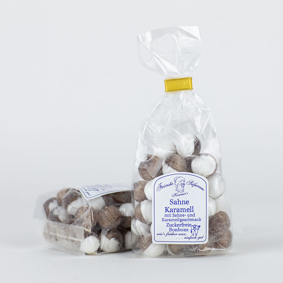 Sahne-Karamell-Bonbons, zuckerfreie Bonbons