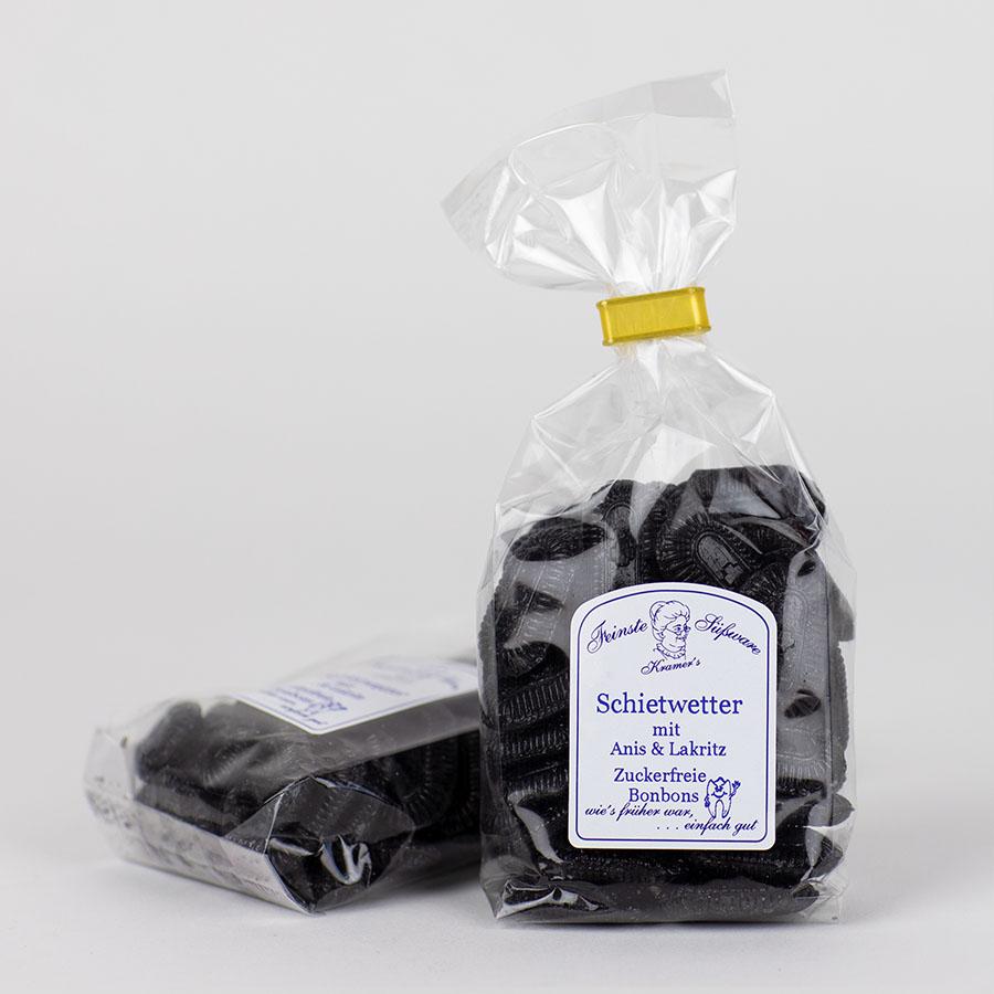 Schietwetter, Anis-Lakritz, zuckerfreie Bonbons