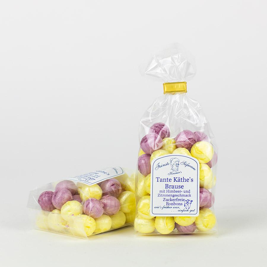 Tante Käthe´s Brause - zuckerfreie Himbeer-Zitrone-Brausebonbons