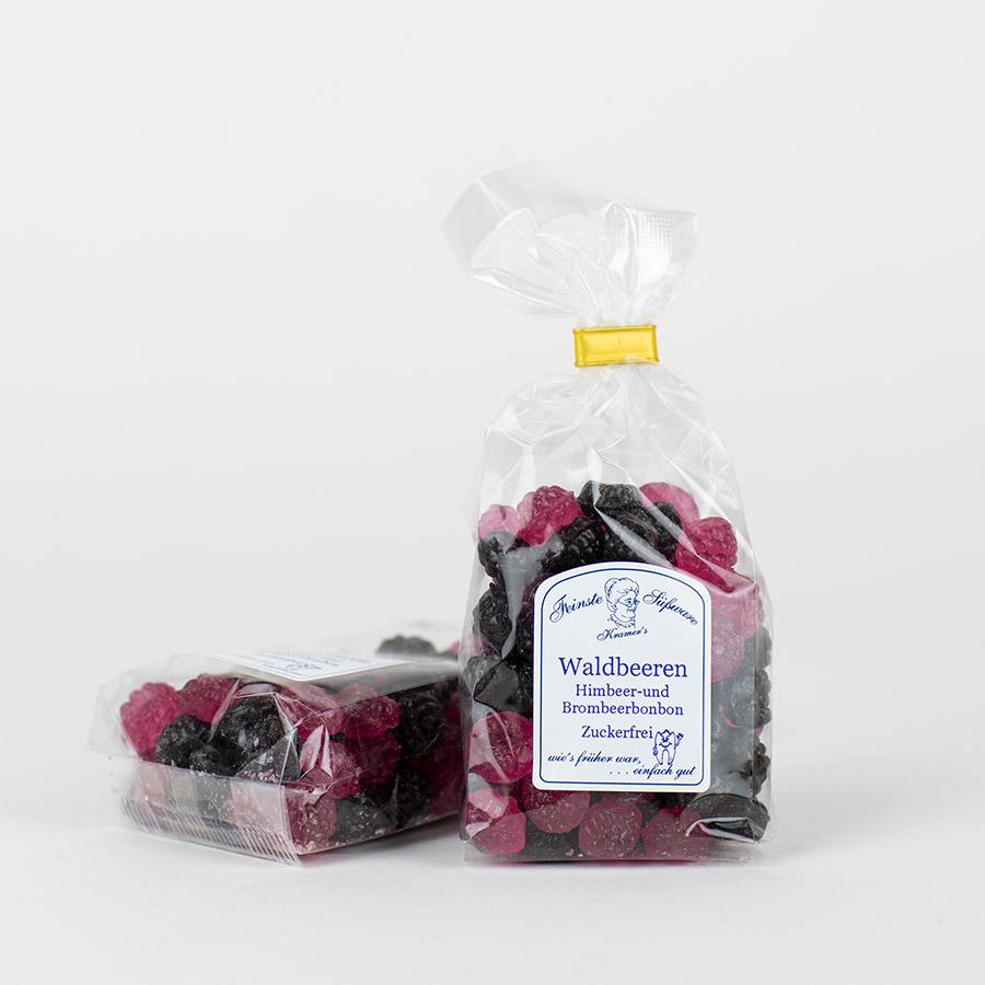 Waldbeeren-Bonbons, zuckerfreie Himbeer- und Brombeerbonbons