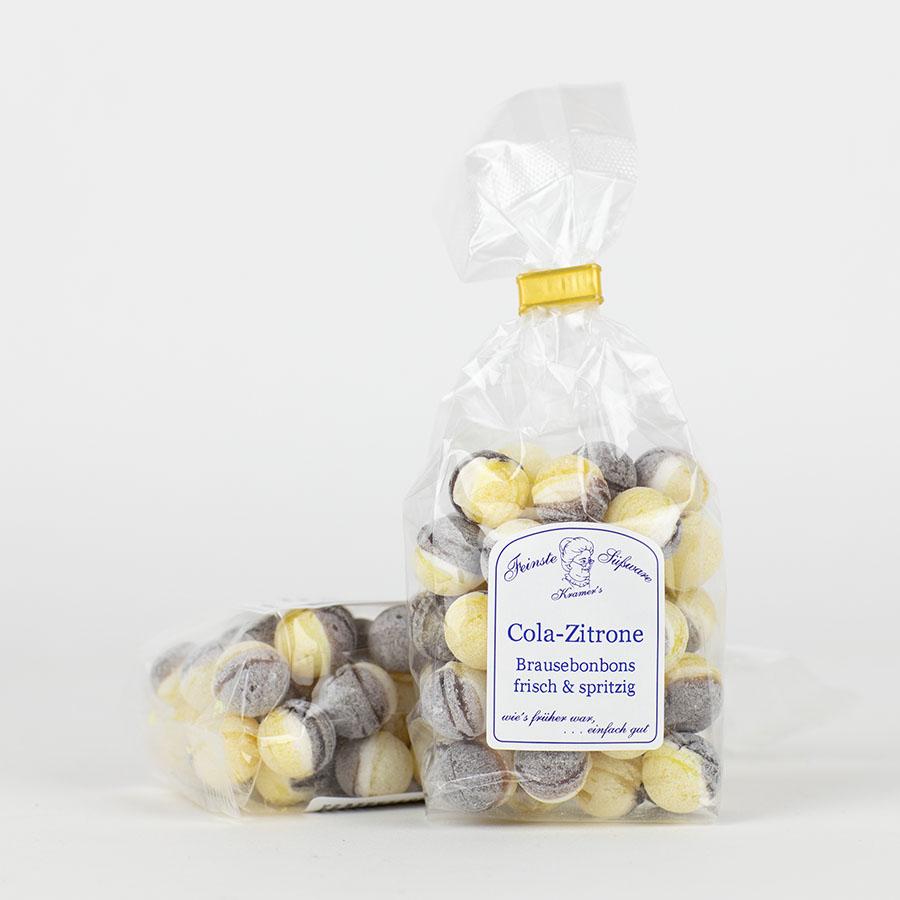 Cola-Zitronen-Brausebonbons