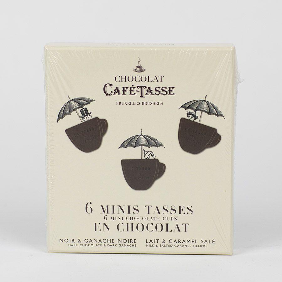 Café Tasse, Mini-Schokoladentassen, Salzkaramell und Ganache Noir