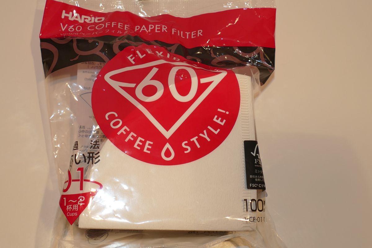 HARIO Papierfilter weiß für V60-01, 100 Stück