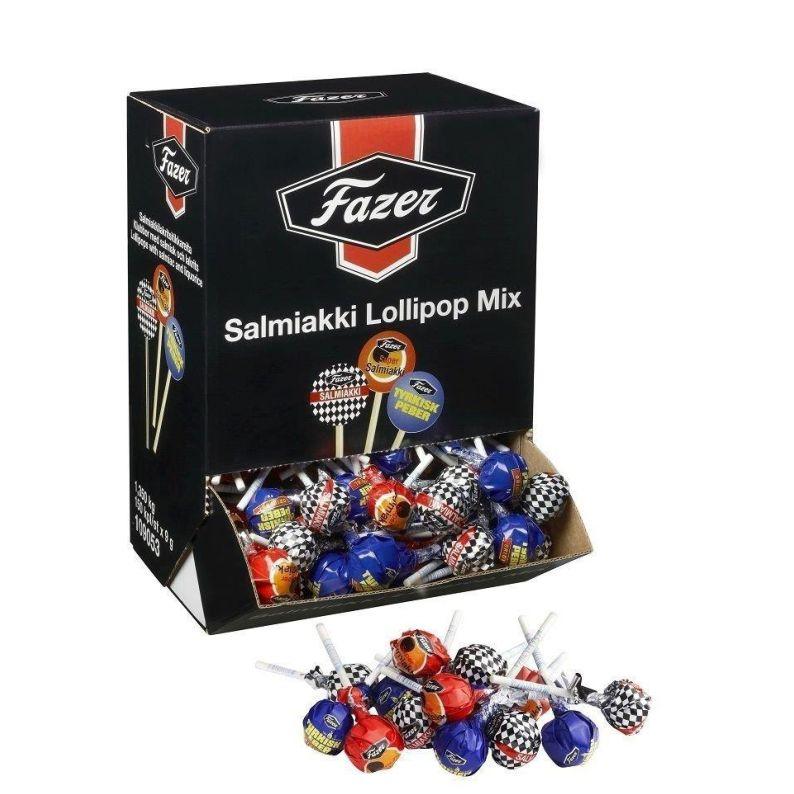 FAZER Mix - 150 Lolly, 3 Sorten Salmiaklolly