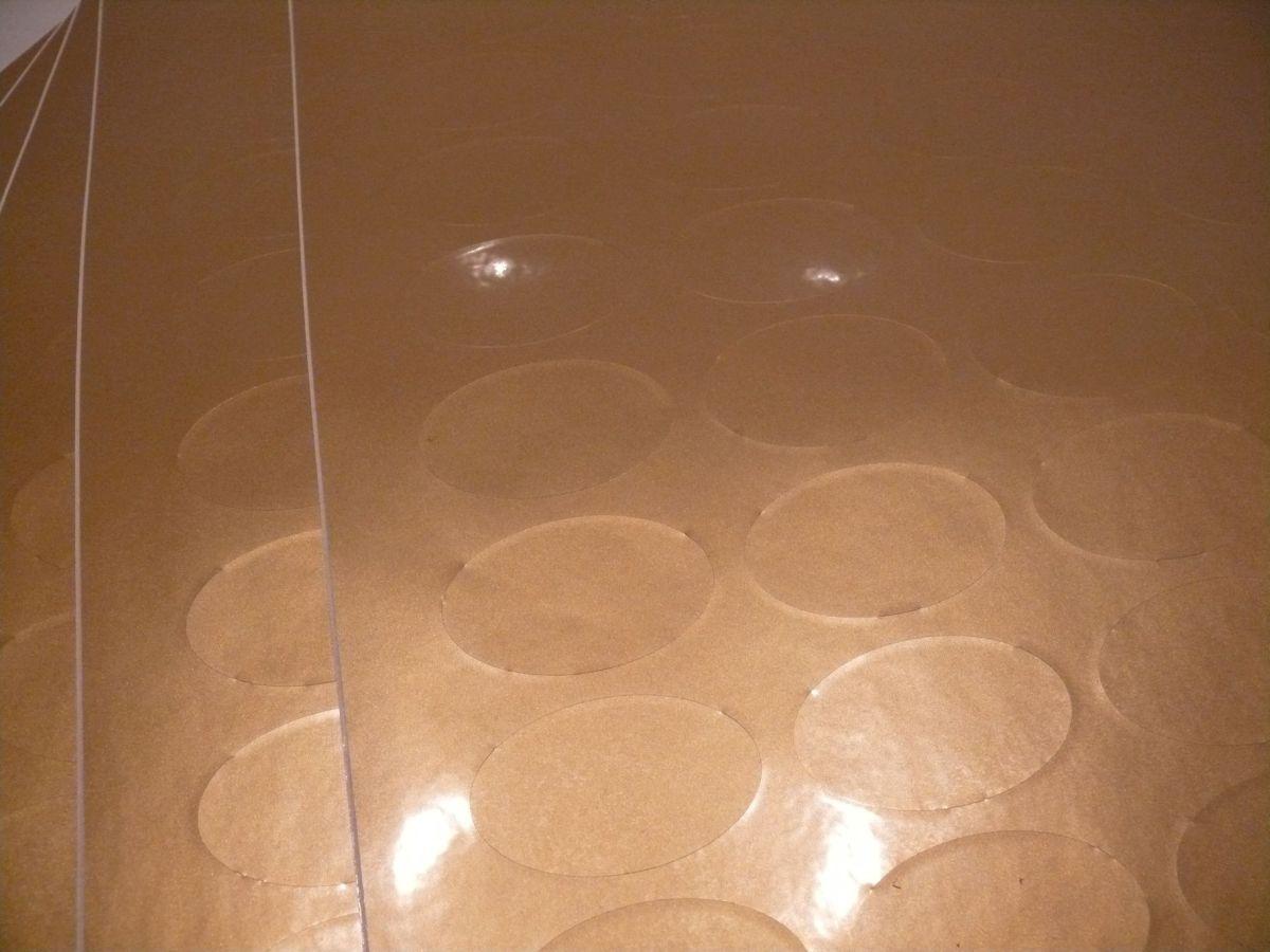 180 ovale goldene Haftetiketten (Herma 4109)