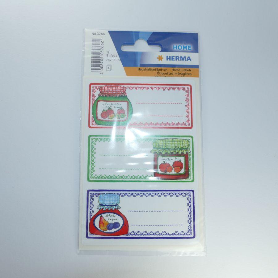 Selbstklebende Etiketten Für Marmeladengläser Glasmotive 12 Stück