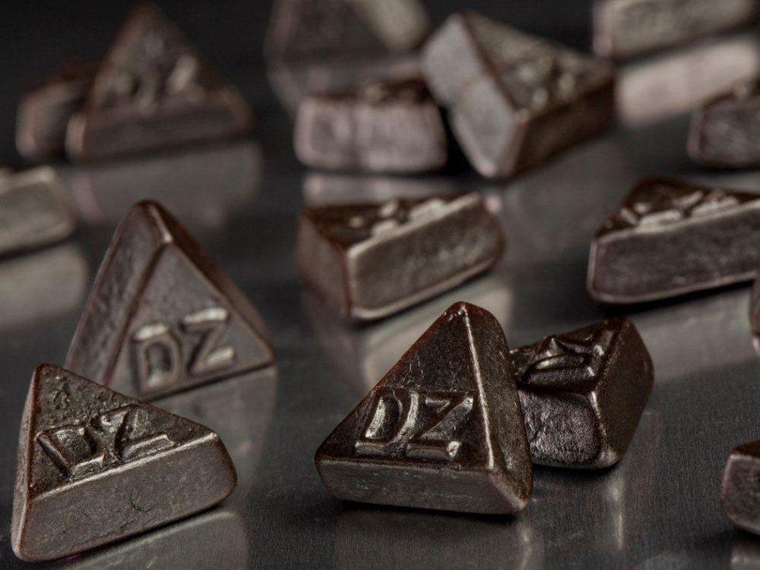 1 kg dubbel zoute driehhoekjes, Doppelsalz von Meenk