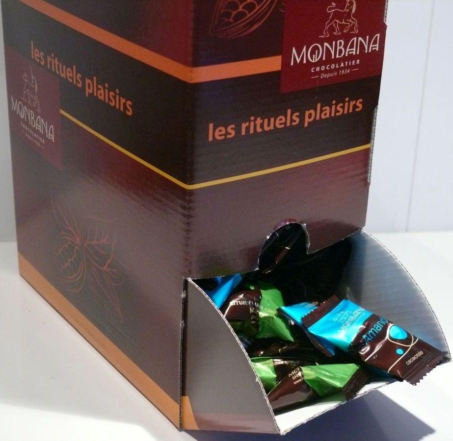 MONBANA - 600 Gramm schokolierte Mandeln - einzeln verpackt