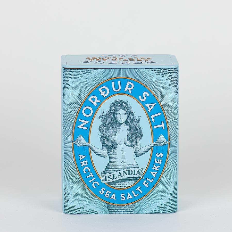 NORDUR MEERSALZ in der Metalldose, 250 Gramm isländische Meersalzflocken natural