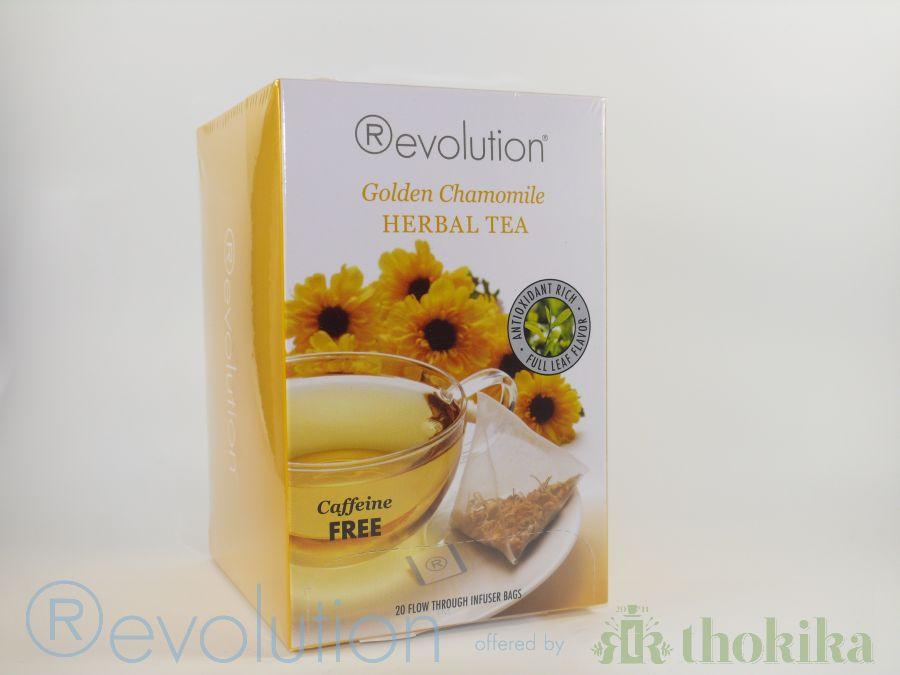 """Revolution Tee - Golden Chamomile Herbal Tea - Gastro """"foliert"""" - Koffeinfrei"""