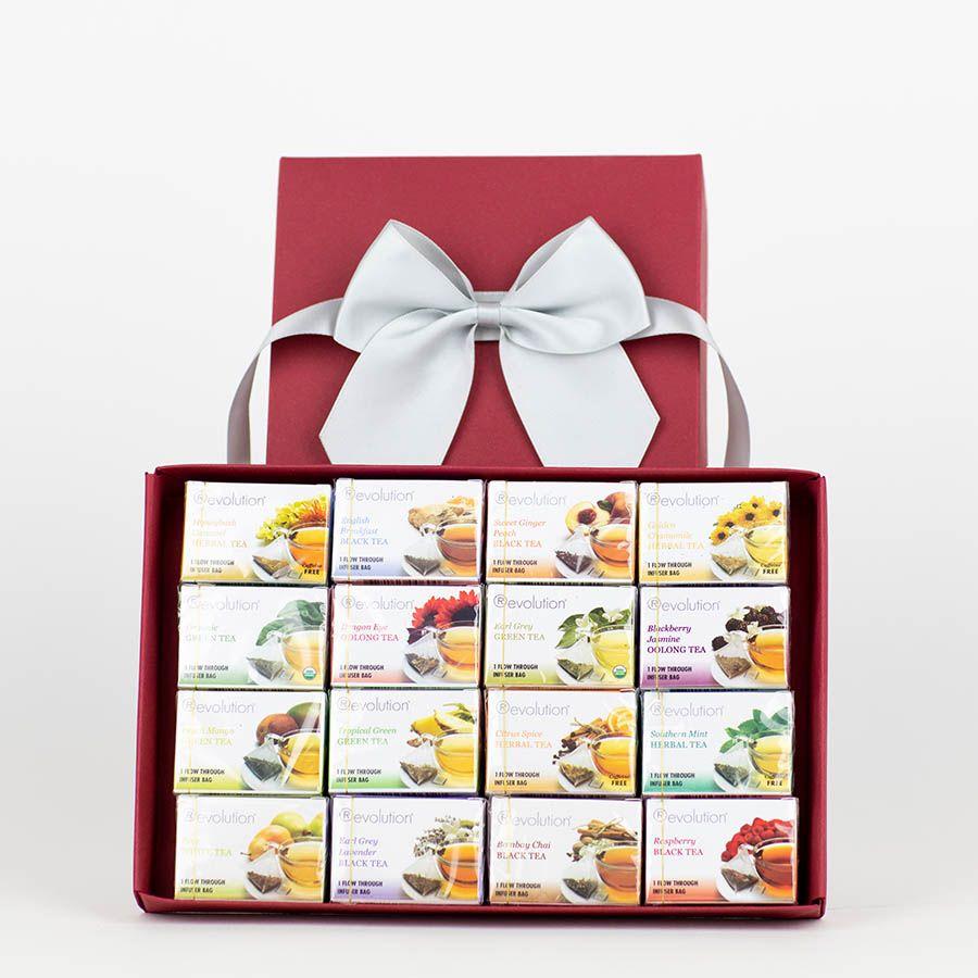thokika gift box of Revolution Tea - 16 varieties